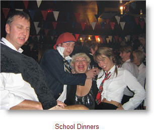 Boys and Girls at School Dinners