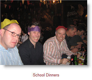 Stag boy David at School Dinners
